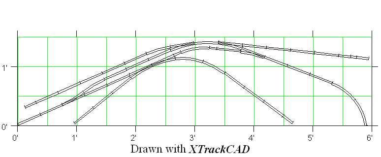 My new shelf track plan based on Byron Henderson's San Jose Switcher is 18x72.